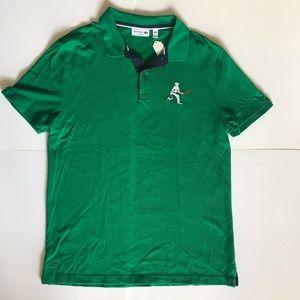 RARE Lacoste Classic Embroidered Logo Polo